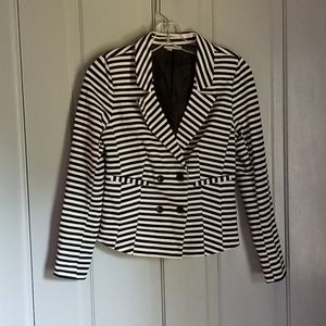 Halogen black and white striped jacket
